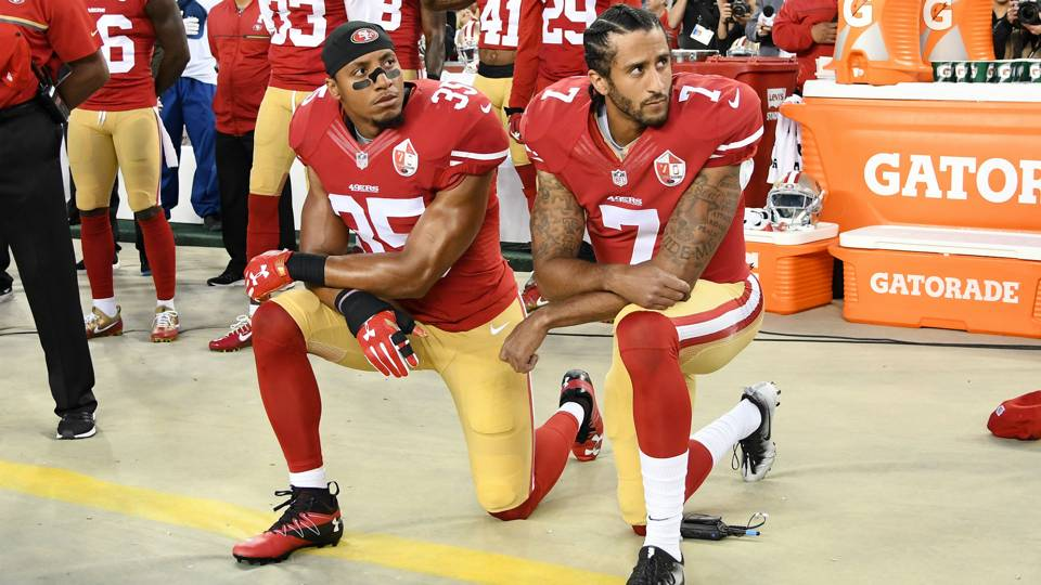 Image result for kaepernick anthem protest