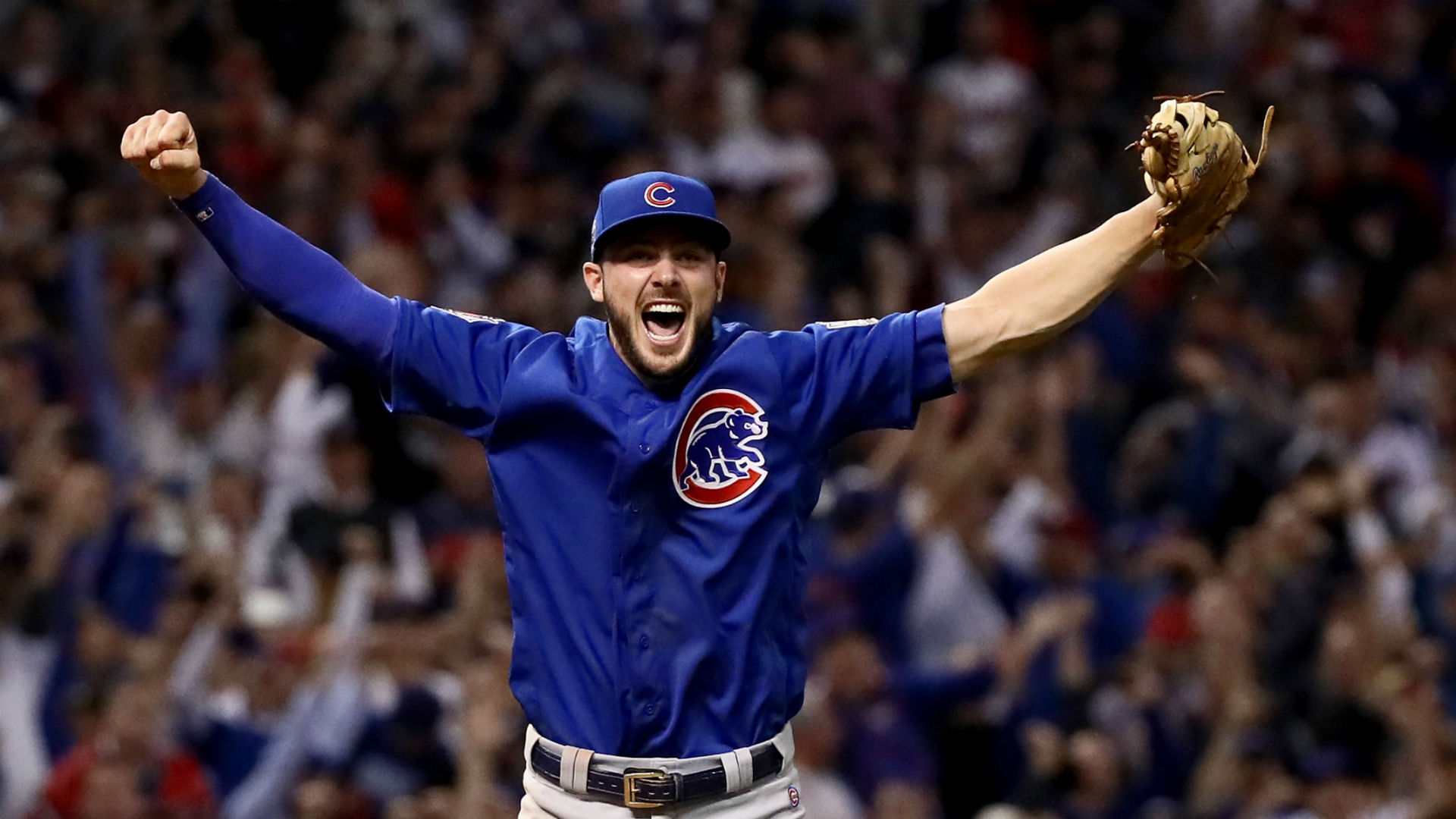 World Series 2016: Kris Bryant smiled so hard while fielding final out for Cubs | MLB | Sporting ...