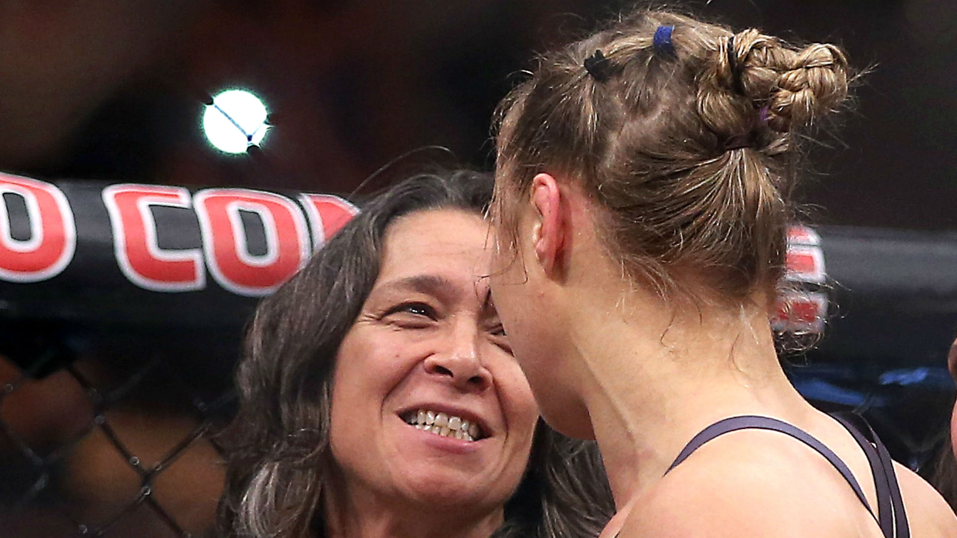 AnnMaria De Mars (left) Ronda Rousey