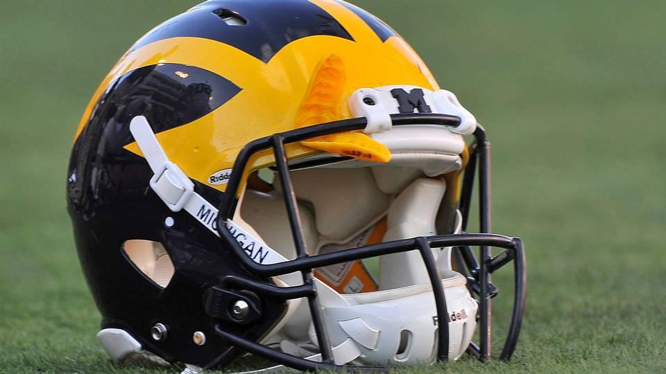 Michigan football helmet