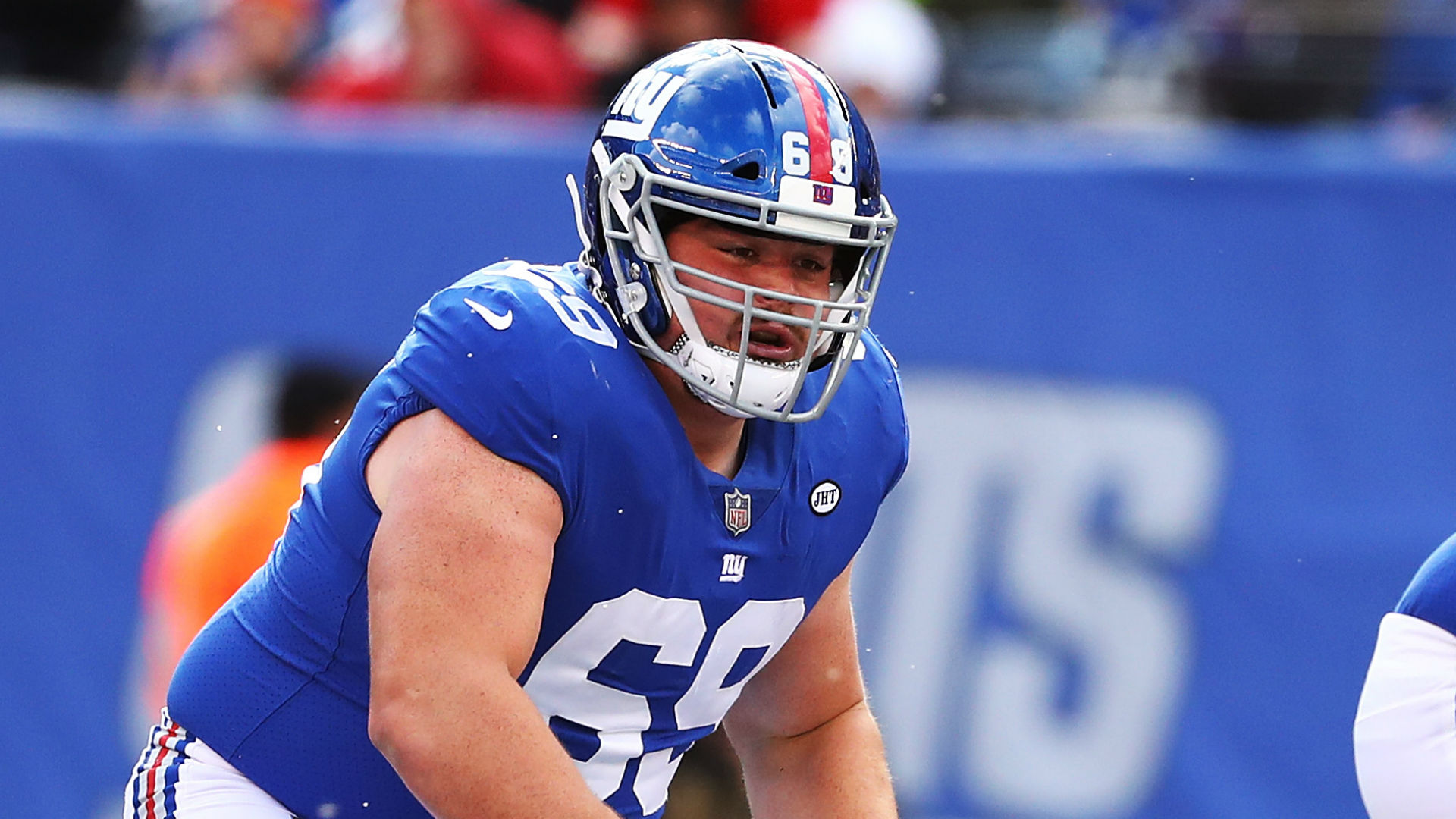 Giants trade offensive lineman to the Vikings