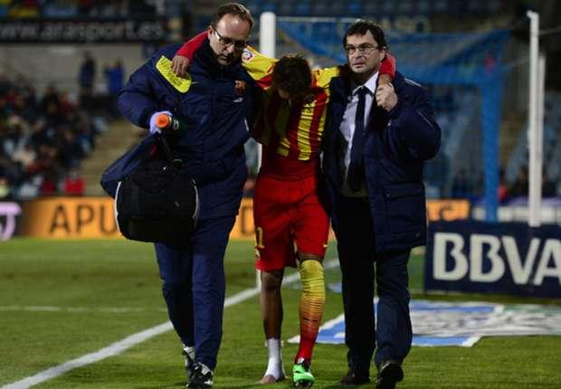 Neymar saiu carregado