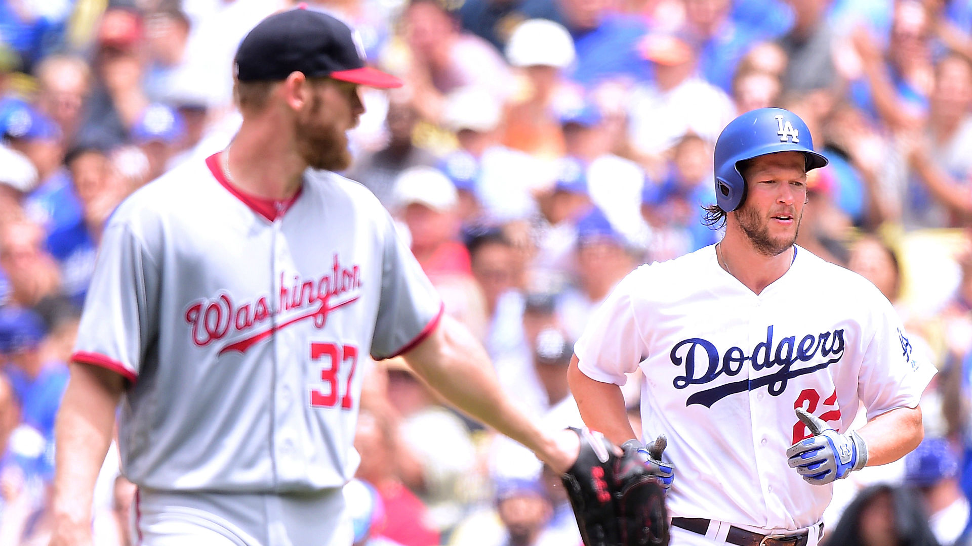 Kershaw outduels Strasburg in Dodgers' win