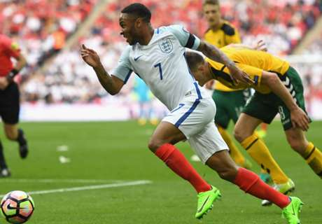 Sterling hurts back for England