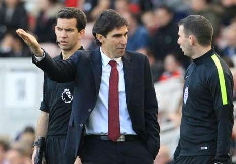 Karanka angry with referee East