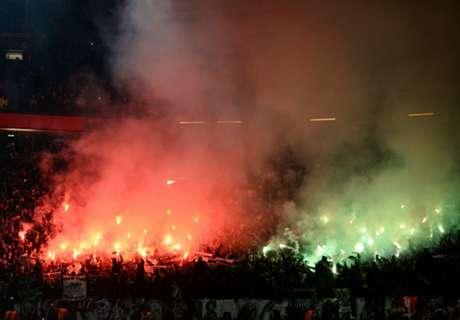 Saint-Etienne face UEFA flare rap