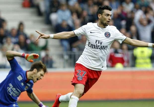 PSG forward Javier Pastore celebrates a goal