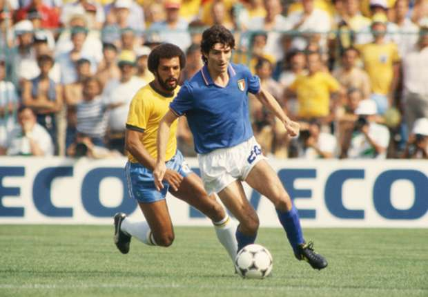 Your favourite World Cup moments: Paolo Rossi's hat-trick kills off Brazil
