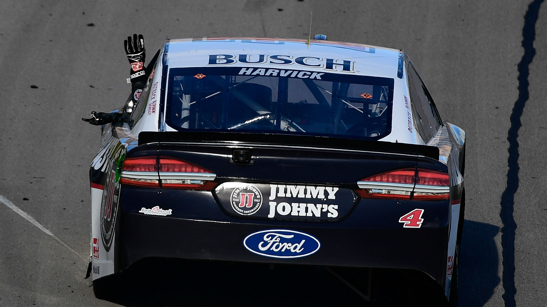 NASCAR penalizes Kevin Harvick's team for rear window issue