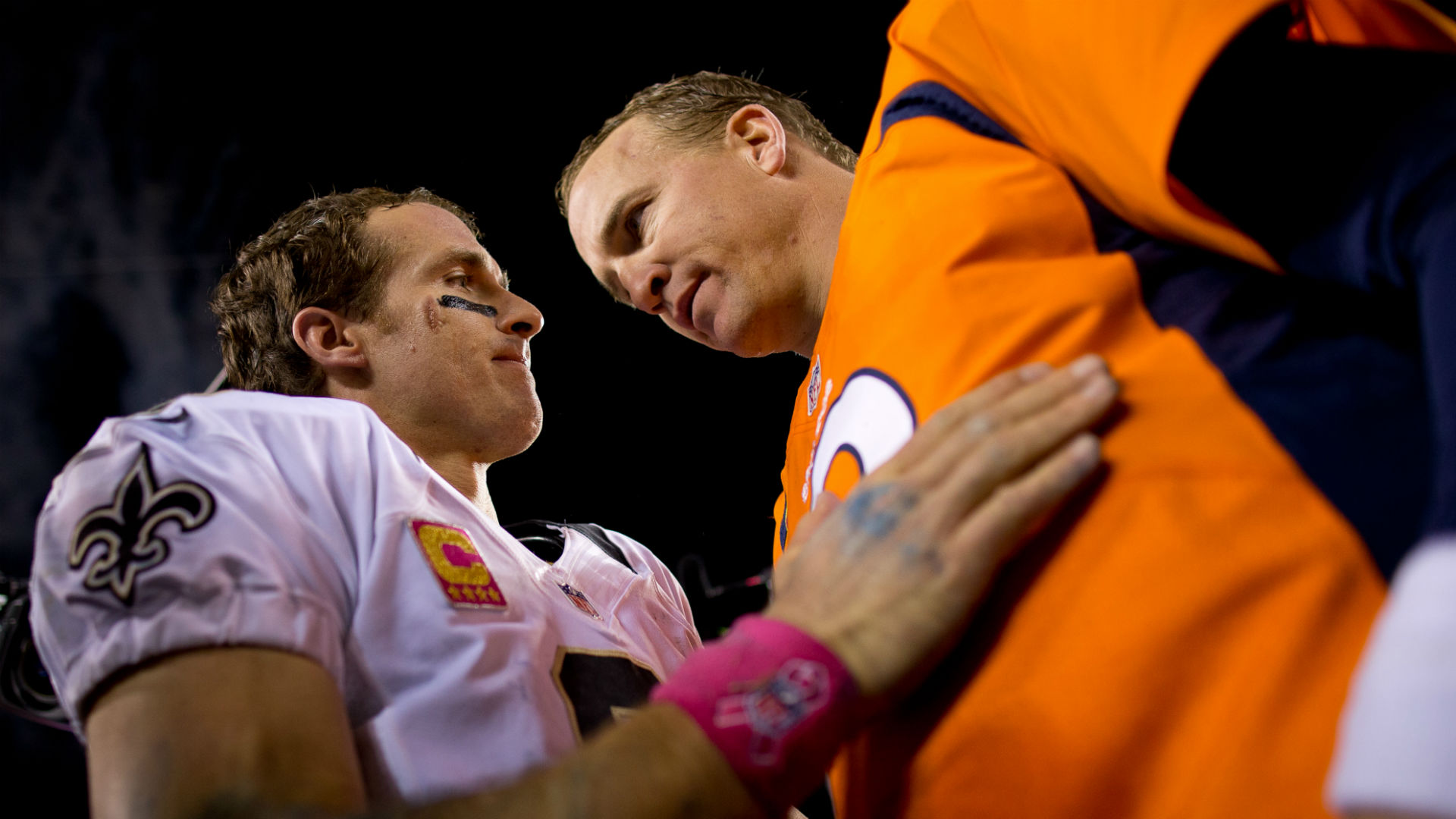 Peyton Manning gives hilarious congrats to Brees