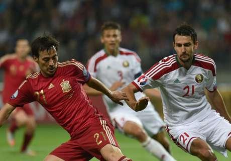 Belarus 0-1 Spain: Silva winner