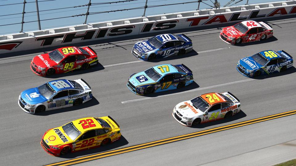 Dale Earnhardt Jr. leads at Talladega