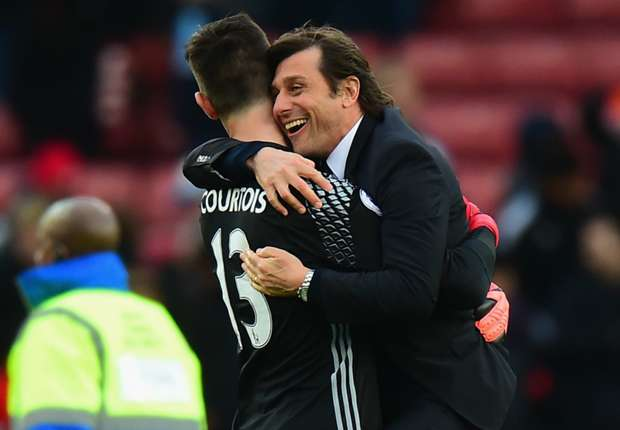 Courtois confident Conte will remain at Chelsea