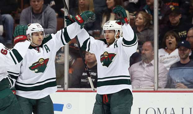 Zach Parise (left) Jason Pominville