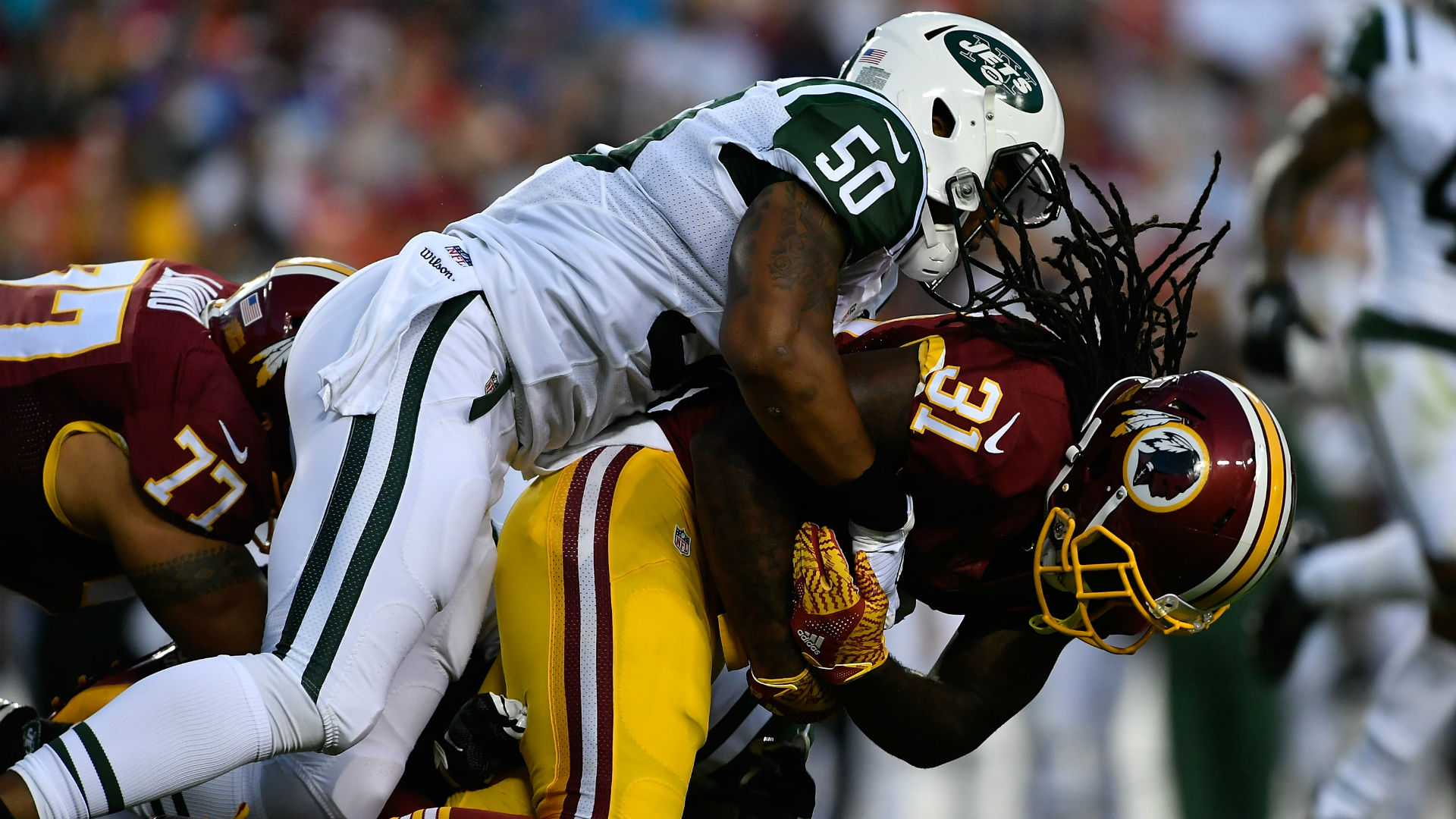 National Football League  clearing Jets LB over 'argument with his girlfriend'