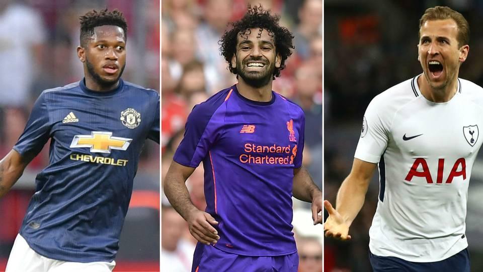 Fred, Mohamed Salah, Harry Kane
