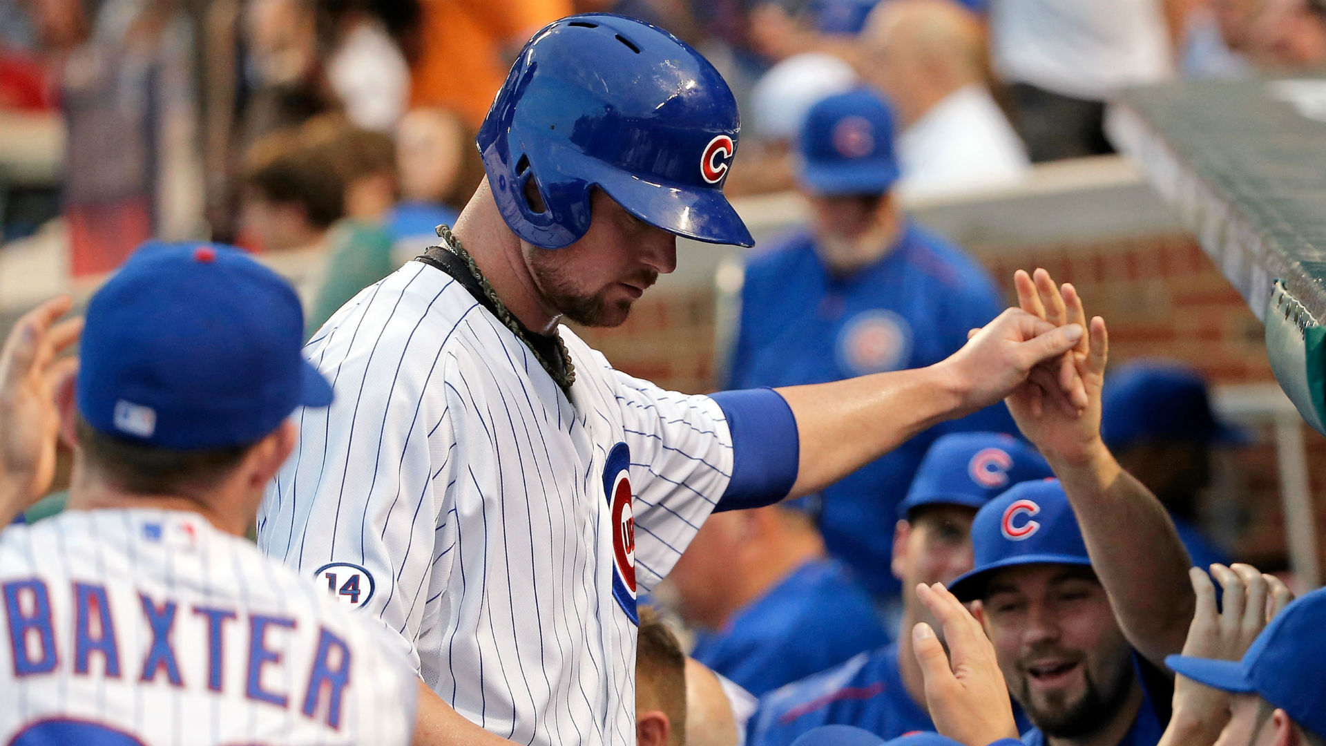 Jon Lester gets first career hit in 67th at-bat, takes run at no-hitter