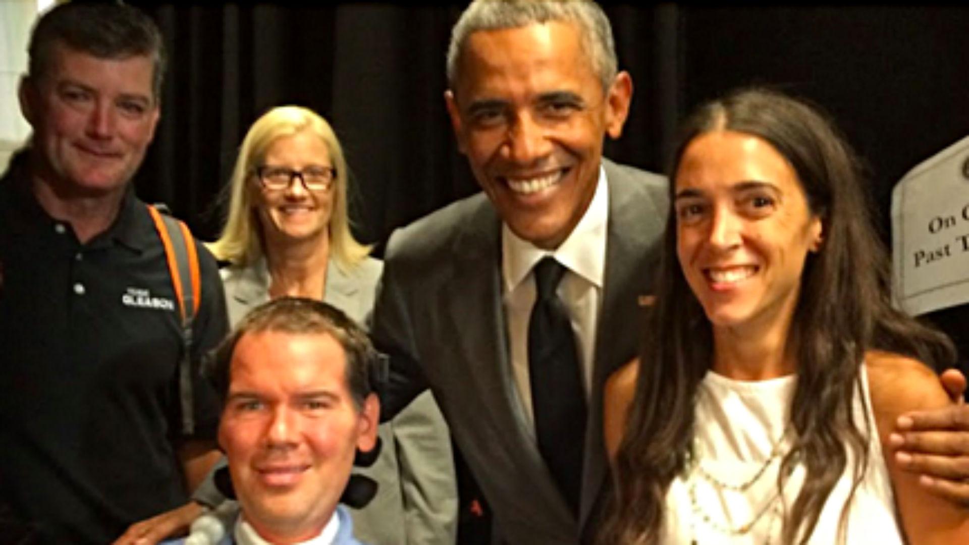 Steve Gleason and President Barack Obama