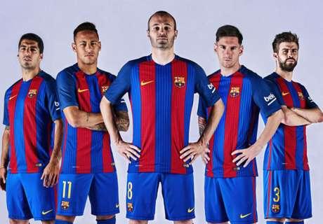 Barcelona revert to kit traditions