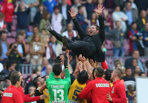 Atletico coach Diego Simeone celebrates