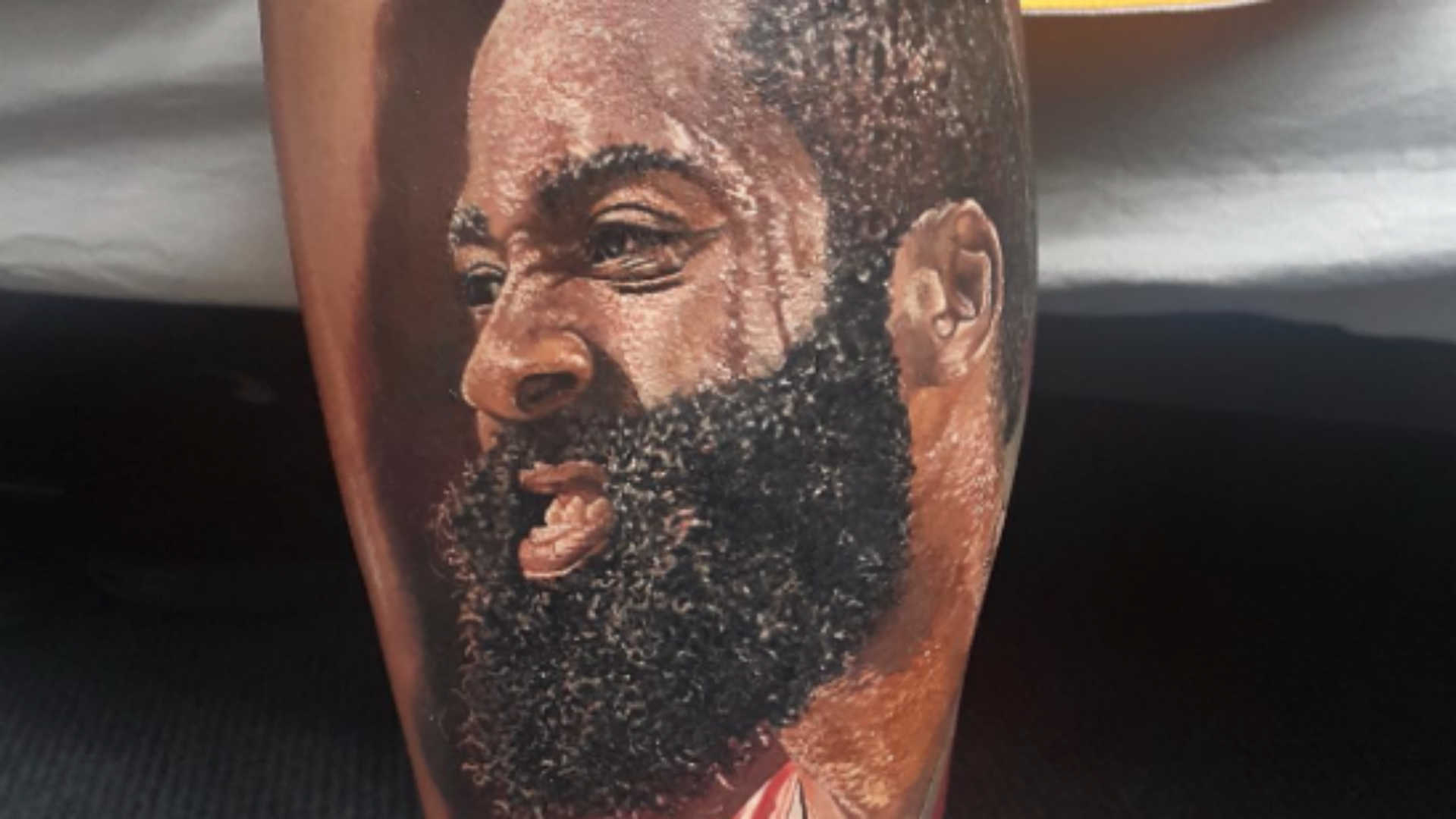Crazy Kiwi's Harden tattoo