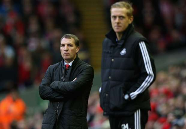 Liverpool boss Rodgers backs Monk to keep Swansea up