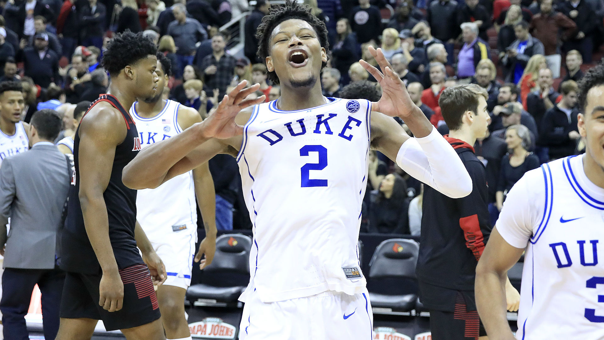 Embattled Duke rallies from 23 down to beat Louisville