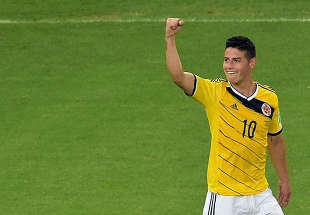 James en un partido con Colombia