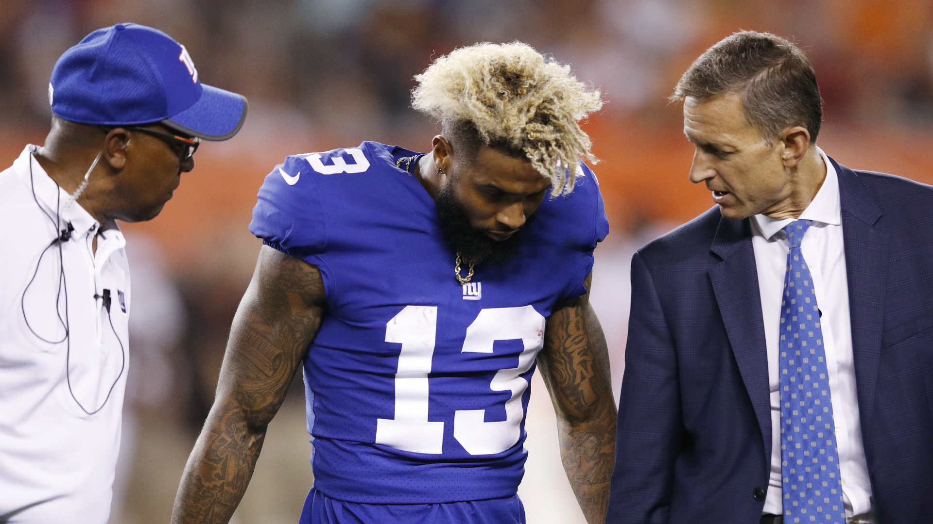 Ankle injury could sideline Giants' Odell Beckham Jr. for opener vs. Cowboys
