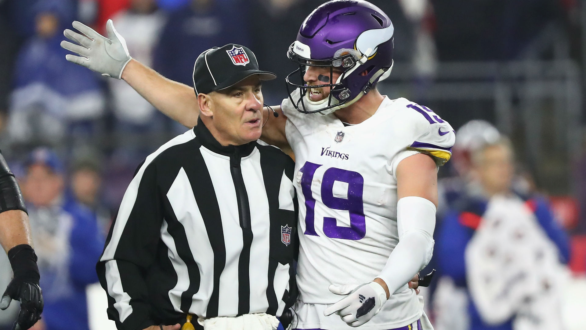Bill Belichick tells Adam Thielen to shut the f--- up