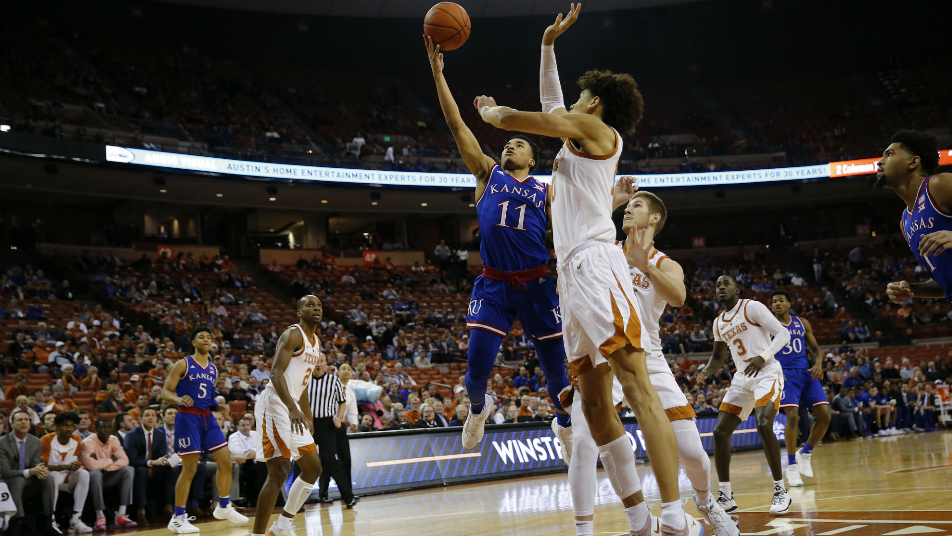 Texas shuts down No. 11 Kansas