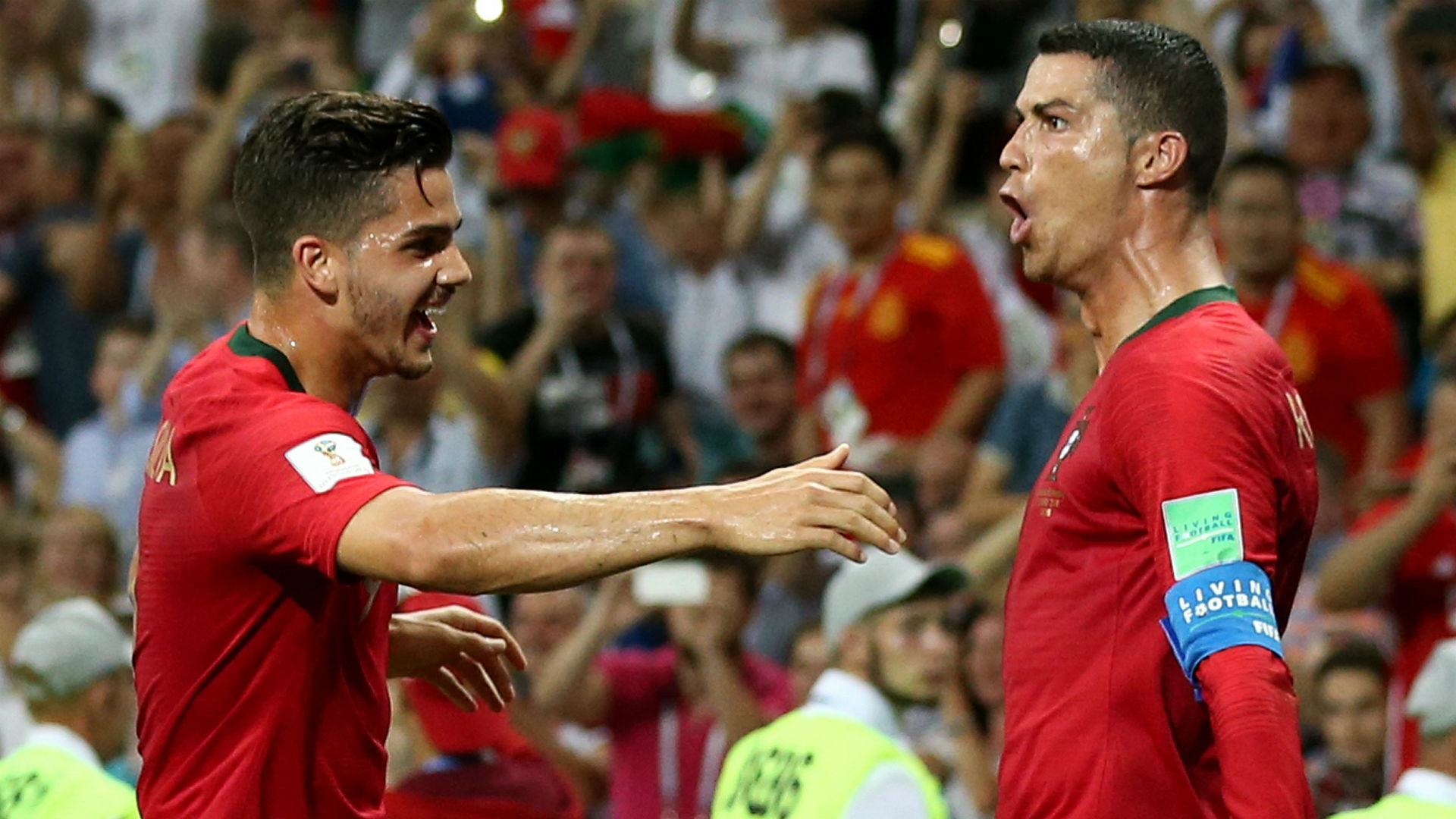 Ronaldo's record goal scripts Portugal win