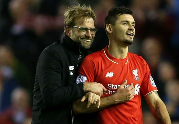Image result for Lovren and Klopp