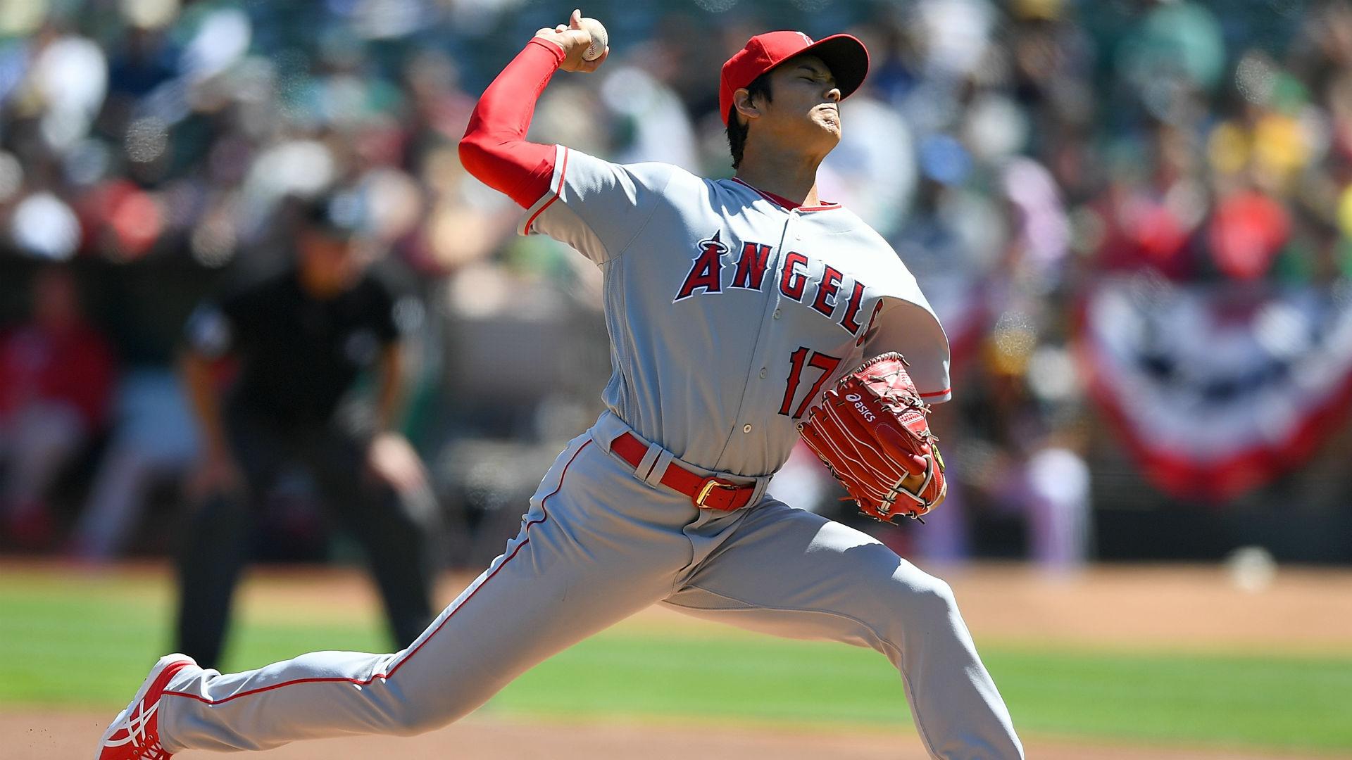 Angels' Shohei Ohtani wins major league debut against A's