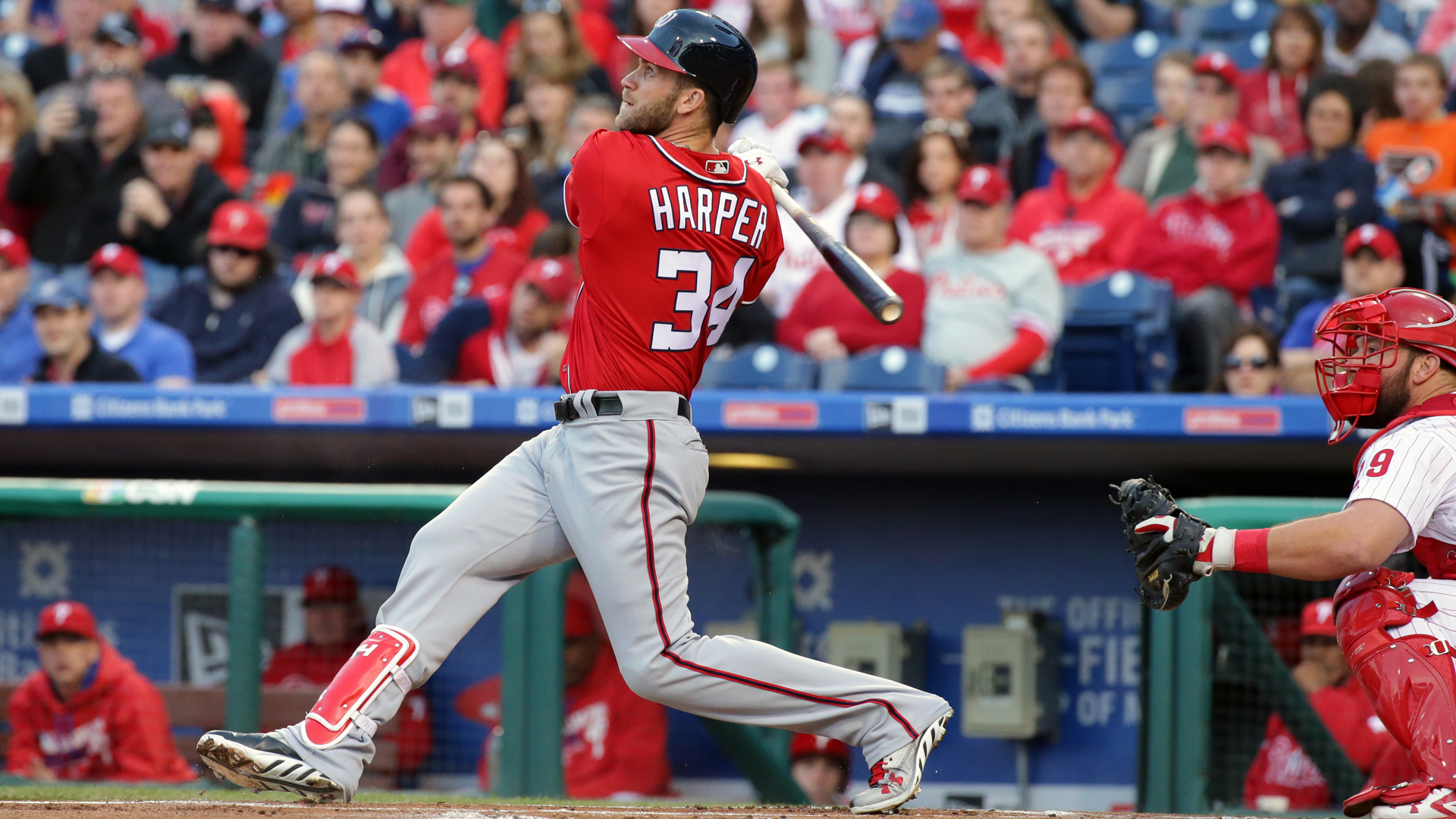 Bryce Harper leadoff experiment pays off for Nationals