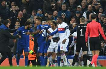 UEFA charge Everton after fans strike Lyon players