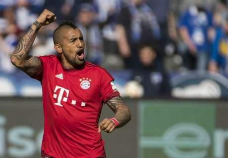 Hertha 0-2 Bayern: Vidal, Costa score