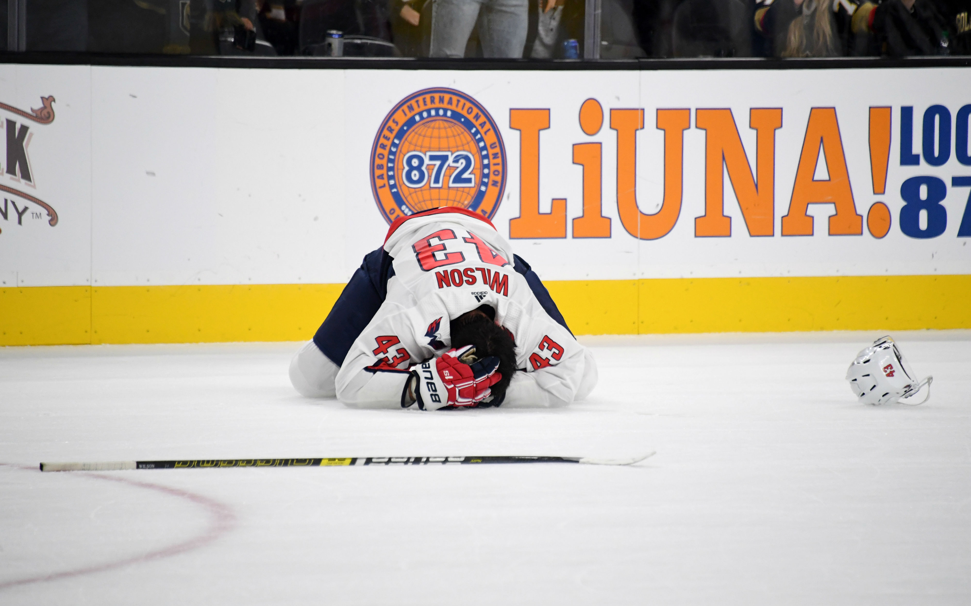 Capitals' Tom Wilson Leaves Game With Injury After Taking Big Hit; Golden Knights' Ryan Reaves Ejected