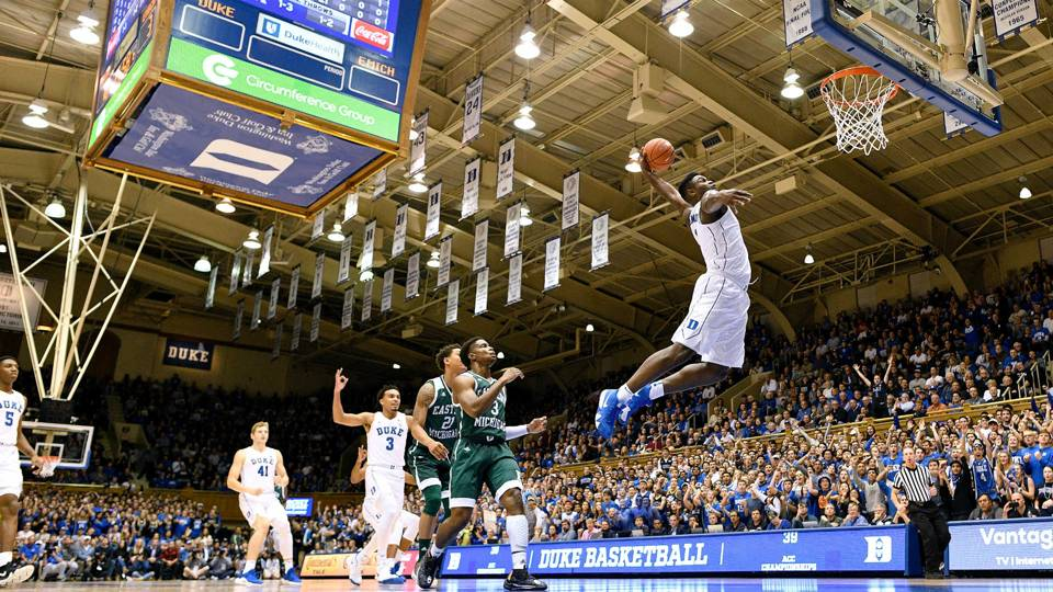 Image result for zion williamson dunk