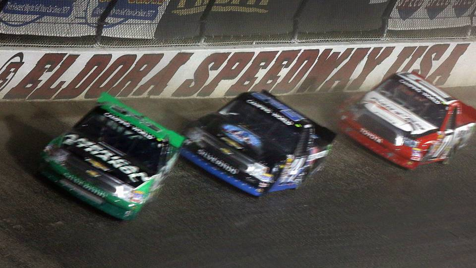 Trucks race at Eldora Speedway