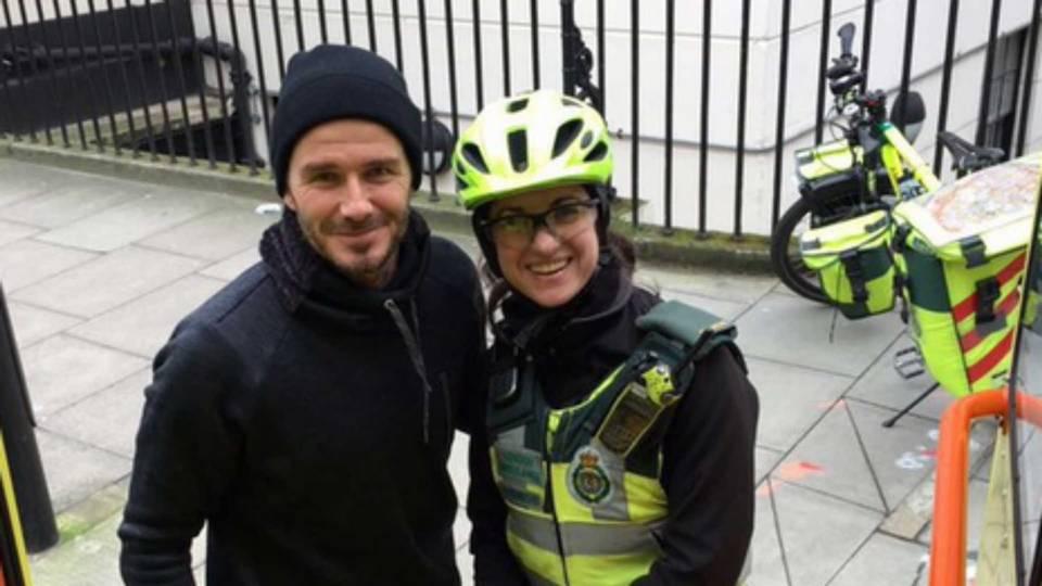 David Beckham, left, and Catherine Maynard
