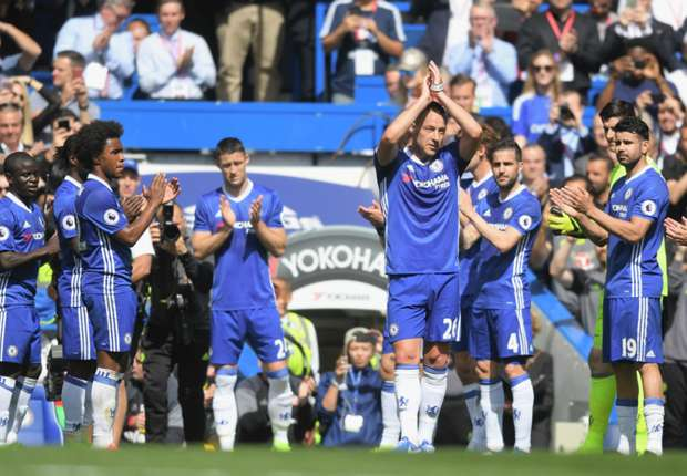 Chelsea captain John Terry leaves the field in his final Stamford Bridge appearance