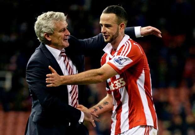 Stoke boss Hughes hails Wilson in Huth's absence