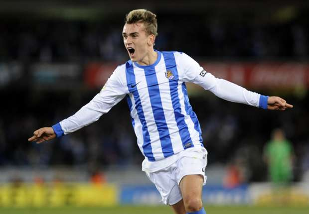 Real Sociedad winger Antione Griezmann