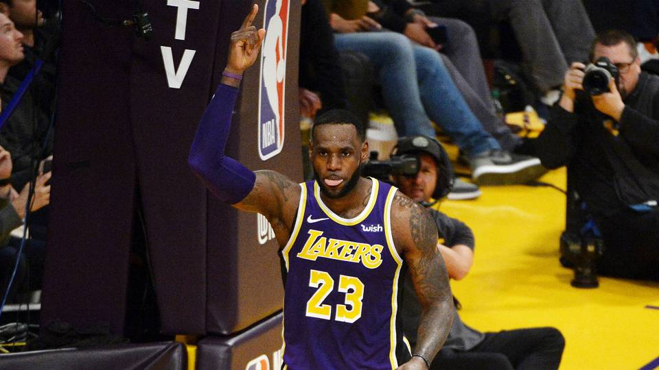 WATCH  Lakers play tribute video for LeBron James after he passes Michael  Jordan on all-time scoring list · NBA 508c1e38a