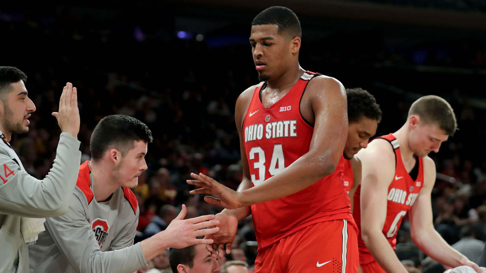 Ohio State Buckeyes Suspended Forward Kaleb Wesson