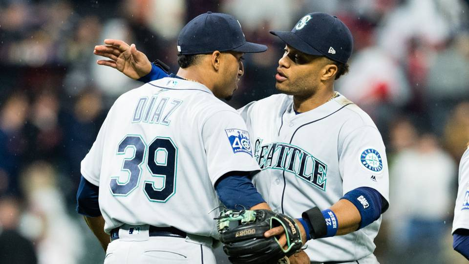 Edwin Diaz (left) and Robinson Cano