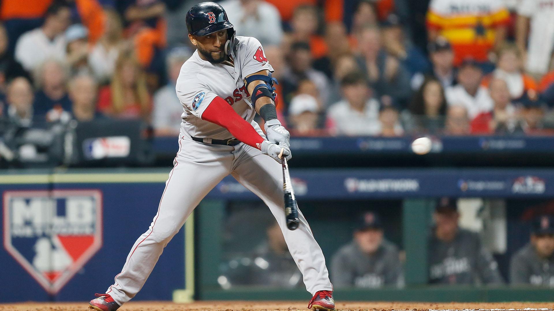 MLB postseason 2018: Red Sox infielder Eduardo Nunez removed for pinch-runner in 4th inning