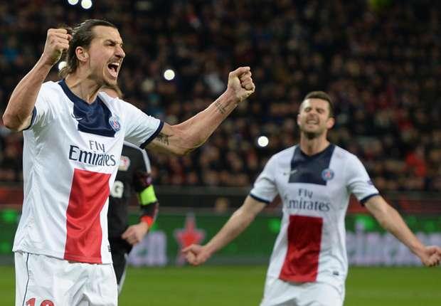 Zlatan Ibrahimovic jubelt über seinen zweiten Treffer