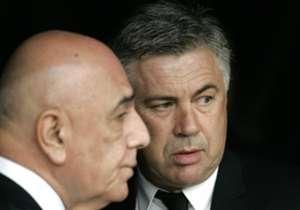 Carlo Ancelotti and Adriano Galliani